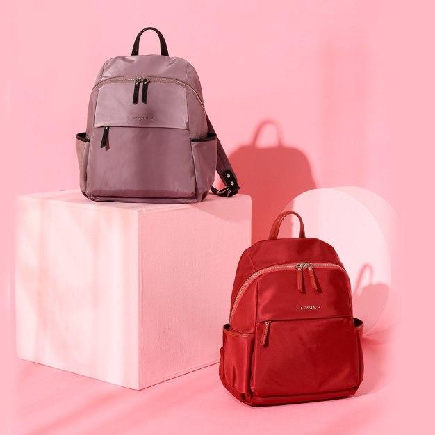 Red Big Plain Women's Backpack