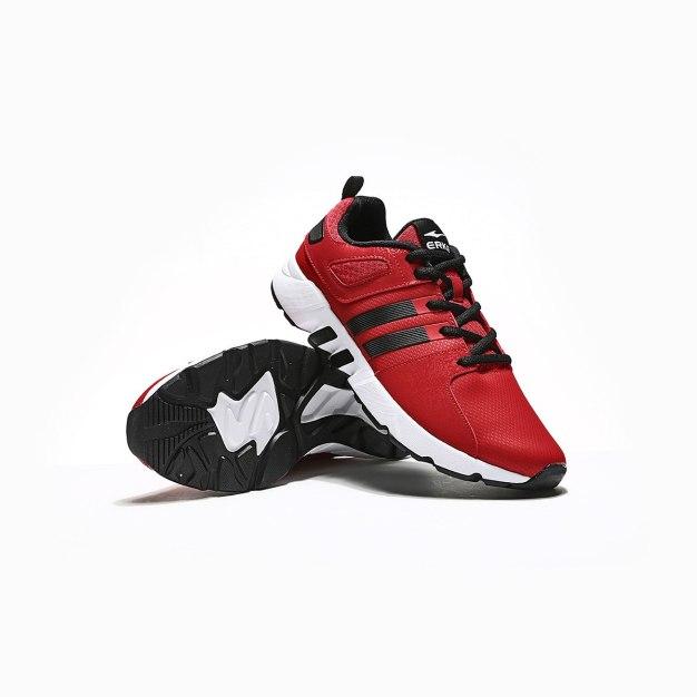 Red Wear-Resistant Outdoor Men's Sneakers