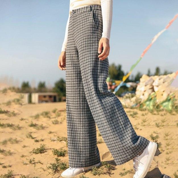 Gray Pleates Long Women's Pants