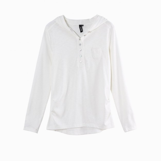 White Long Sleeve Fitted Women's T-Shirt
