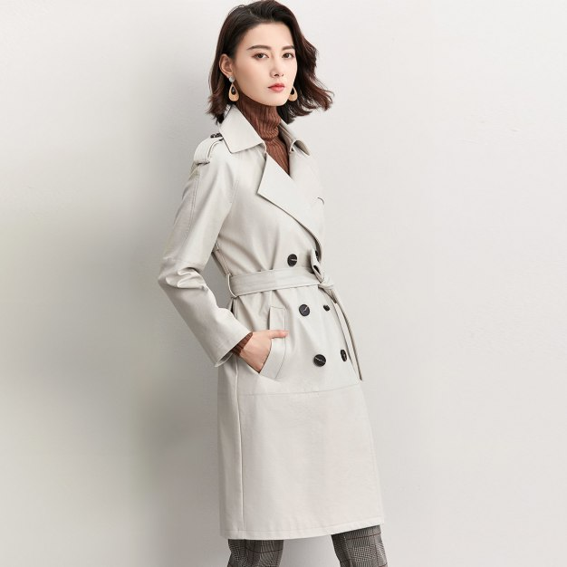 Suit Collar Long Sleeve Women's Fur & Leather Clothing