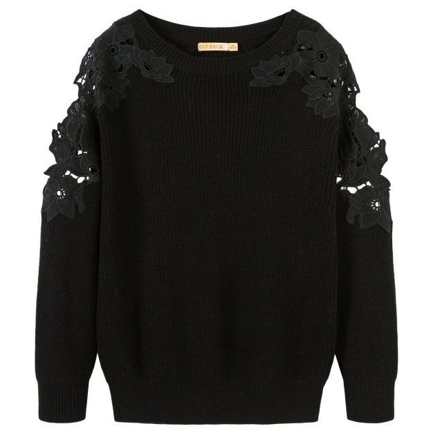 Round Neck Long Sleeve Loose Women's Sweater