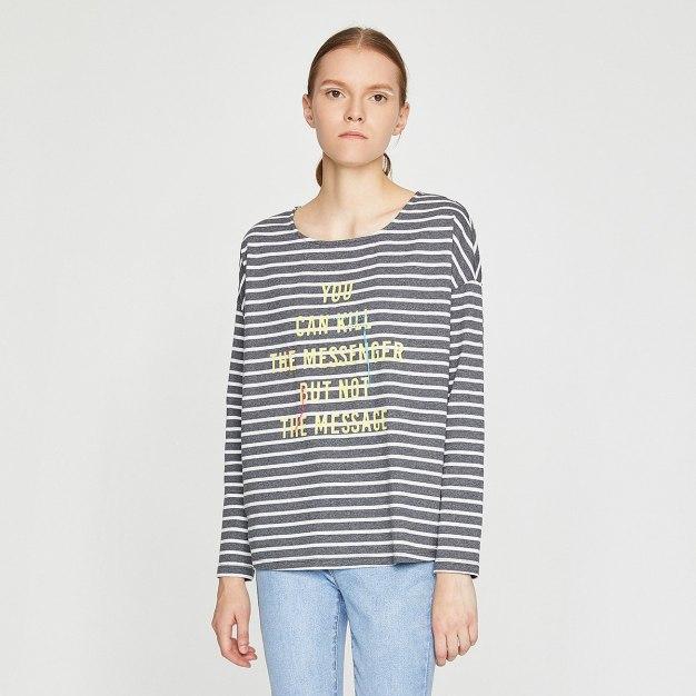 High Neck Long Sleeve Standard Women's T-Shirt