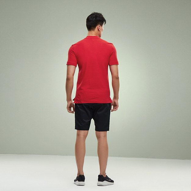 레드 표준 반팔 티셔츠 남성 Polo