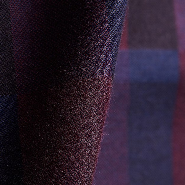 Red Square Neck Long Sleeve Standard Men's Shirt