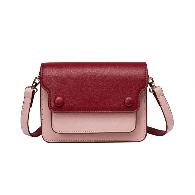 Red PU Envelope Bag Mini Women's Crossbody Bag