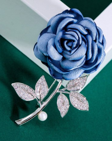 Blue Brooches