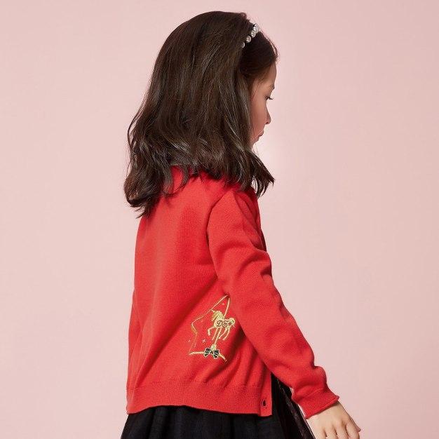 Red Girls' Sweater