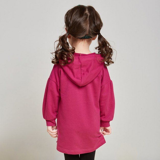 Long Sleeve Mid Length Girls' Sweatshirt