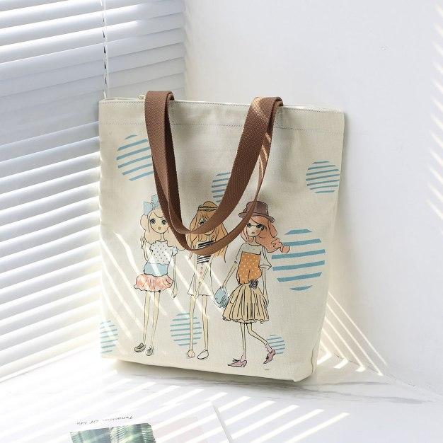 Canvas Tote Bag Big Women's Shoulder Bag