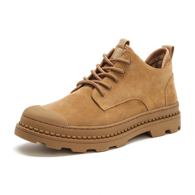 Apricot Round Head Men's Outdoor Causal Shoes