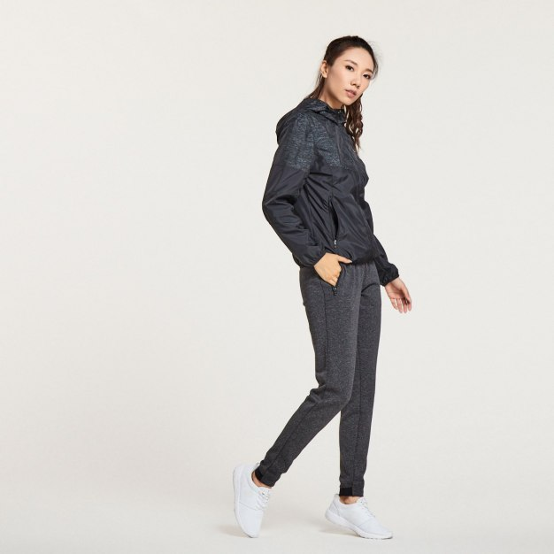 Black Long Sleeve Fitted Quick Drying Women's Outerwear