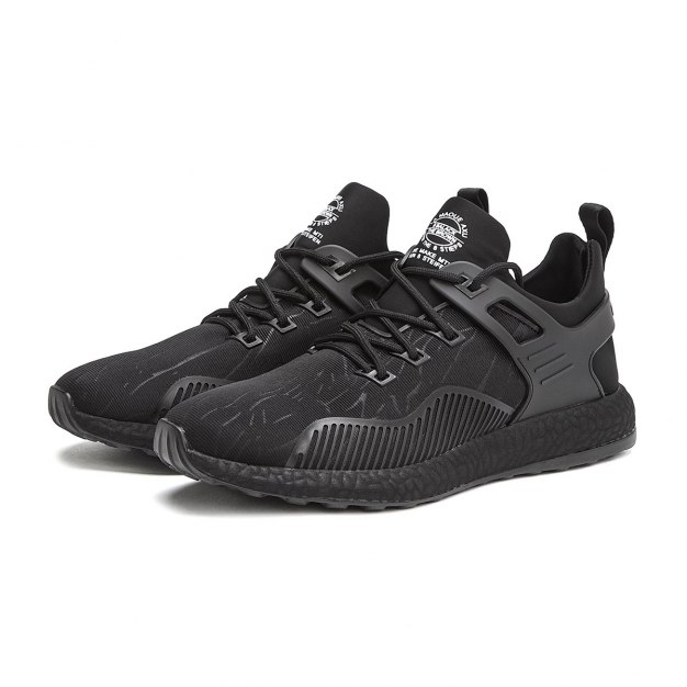 Black Round Head Men's Outdoor Causal Shoes