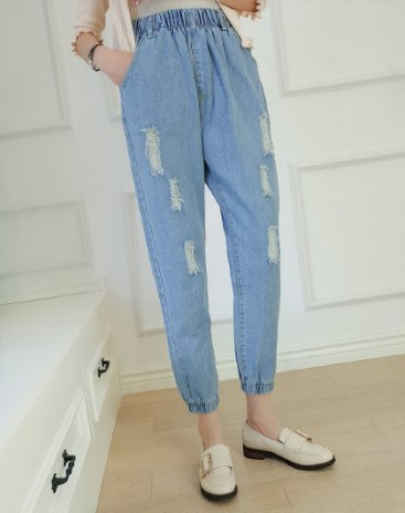 Blue Ripped Women's Jeans
