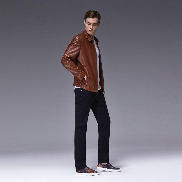 Coffee Men's Fur & Leather