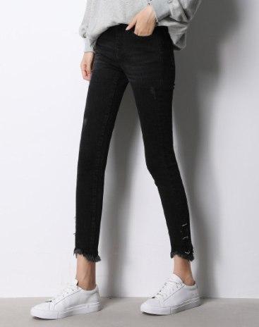 Black  Rough Selvedge  Women's  Jeans