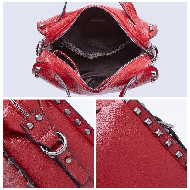 Plain Cowhide Leather Medium Women's Tote