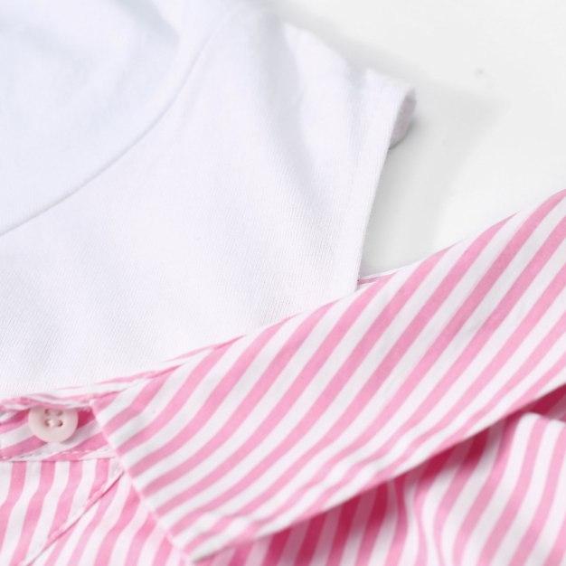 Stripes Long Sleeve Loose Women's Shirt