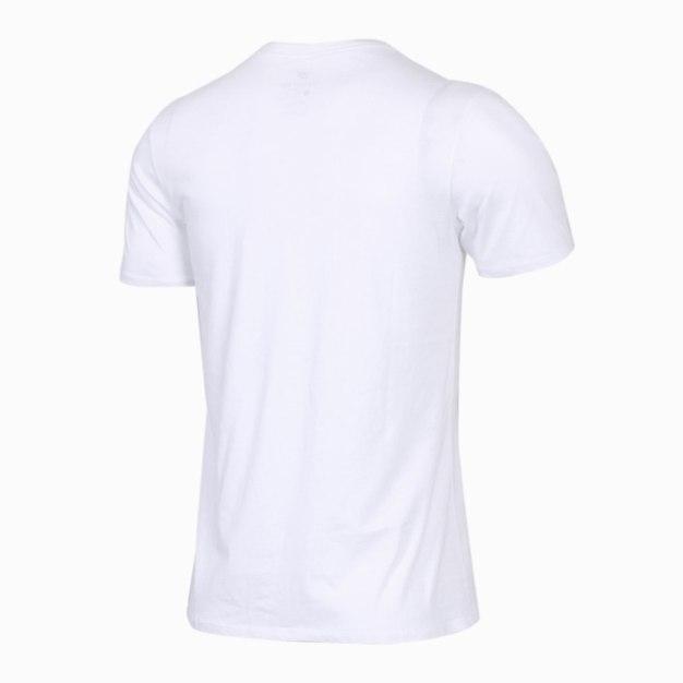 화이트 반팔 표준 남성 티셔츠