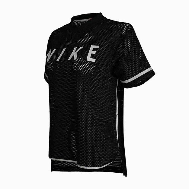 블랙 반팔 표준 여성 티셔츠
