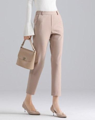 Apricot  Pockets Cropped Women's  Pants