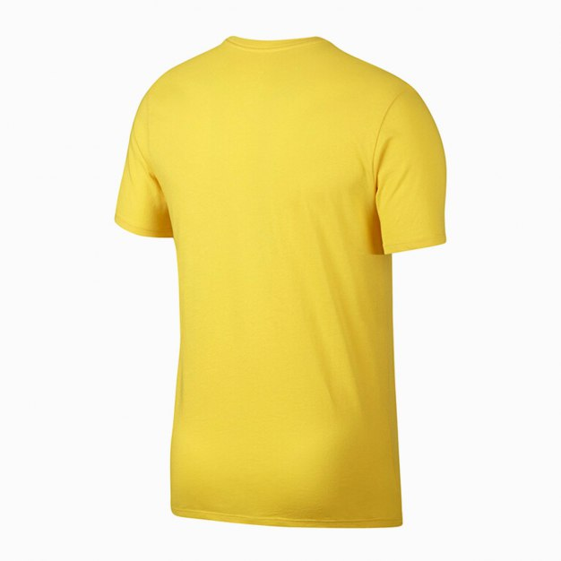 Yellow Short Sleeve Quick Drying Round Neck Men's T-Shirt