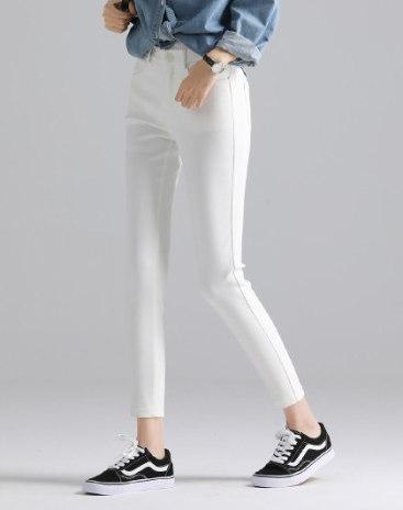 White  Pockets Long Women's  Pants