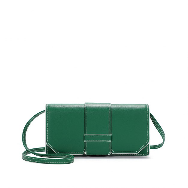 Green Plain PU Organ Bag Small Women's Crossbody Bag