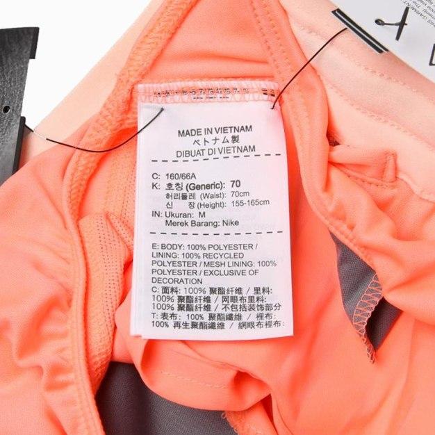 Orange Short Quick Drying Women's Pants