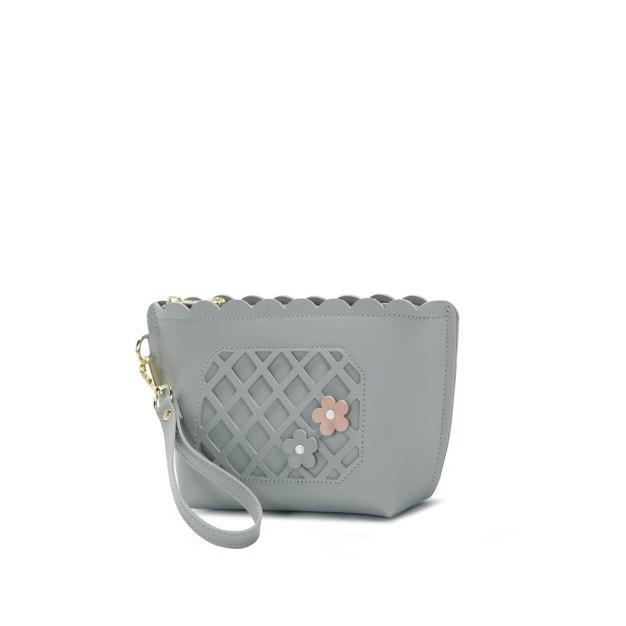 Gray Women's Wristlet