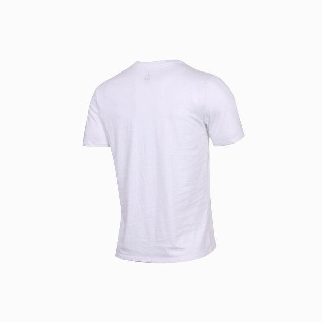 White Short Sleeve Standard Round Neck Men's T-Shirt