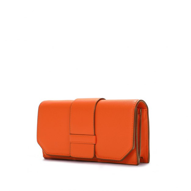 Orange Plain PU Organ Bag Small Women's Crossbody Bag