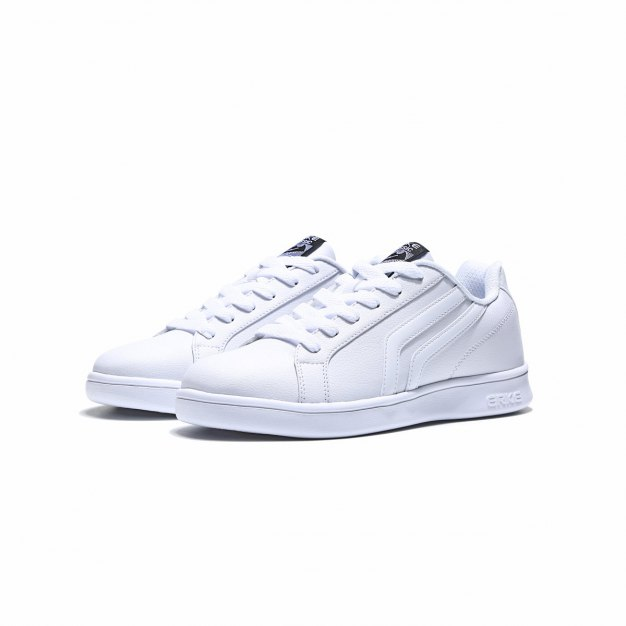 White Wear-Resistant Office Men's Sneakers