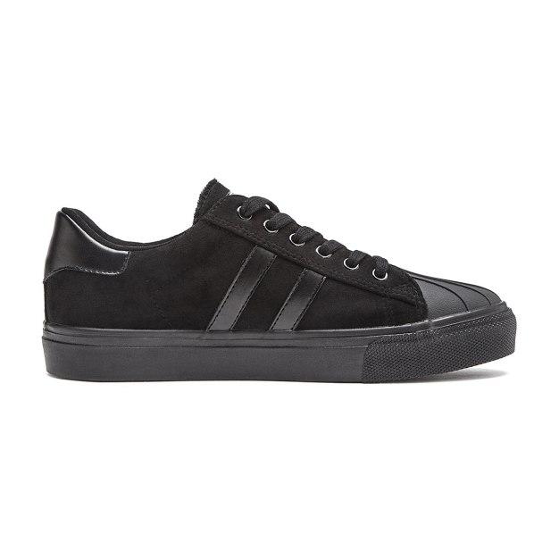 Black Round Head Men's Sports Shoes