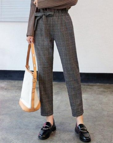 Gray Pockets Cropped Women's Pants