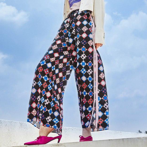 Paneled Long Women's Pants