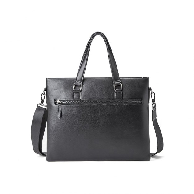 Black Plain Medium Men's Business Case