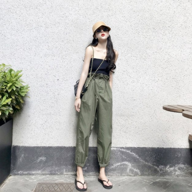 Green Long Women's Pants
