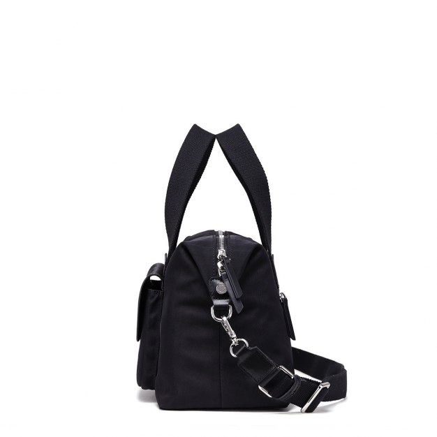 Black Plain Big Women's Tote