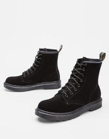 Black High Top Low Heel Portable Women's Boots