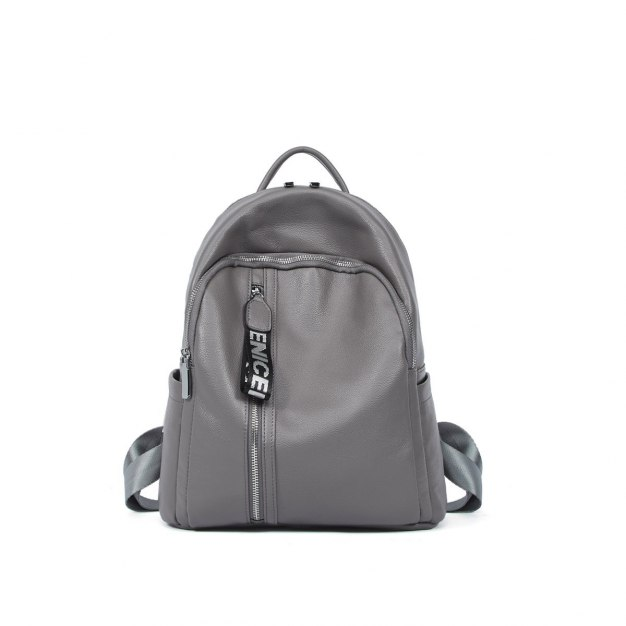 Cowhide Leather Big Plain Women's Backpack