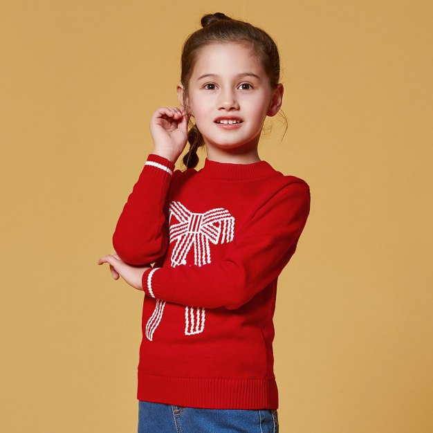 Red Girls' Sweater