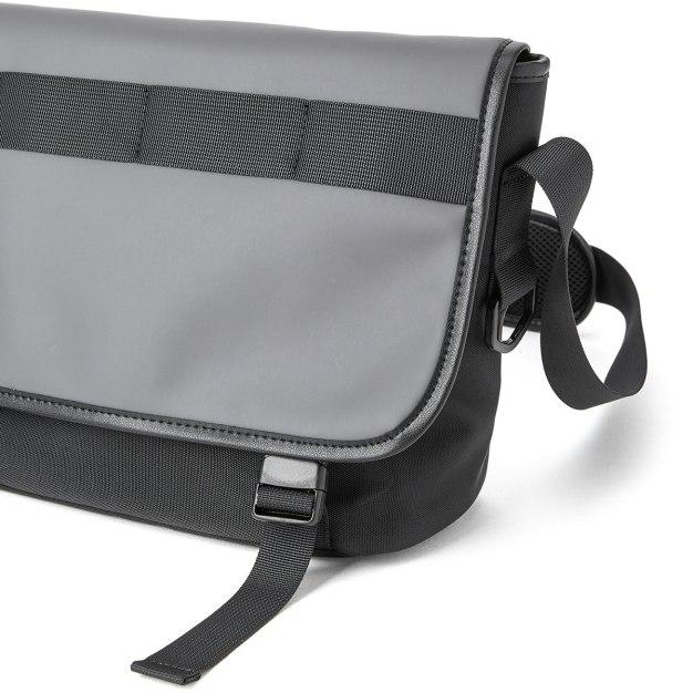Gray Plain Canvas Medium Men's Shoulder Bag