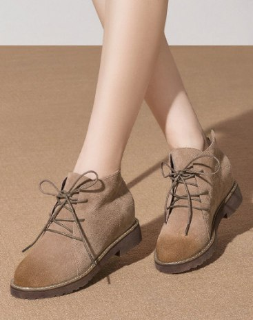 Middle Heel Portable Women's Boots