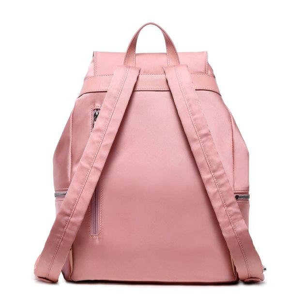 Pink Oxford Cloth Big Plain Women's Backpack