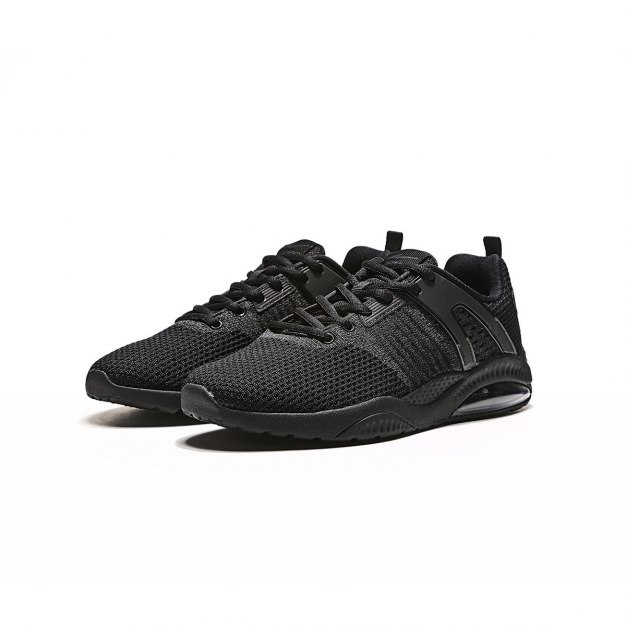 Black Wear-Resistant Running Women's Sneakers