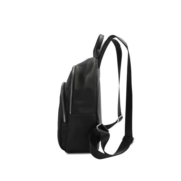 Black Oxford Cloth Big Women's Backpack