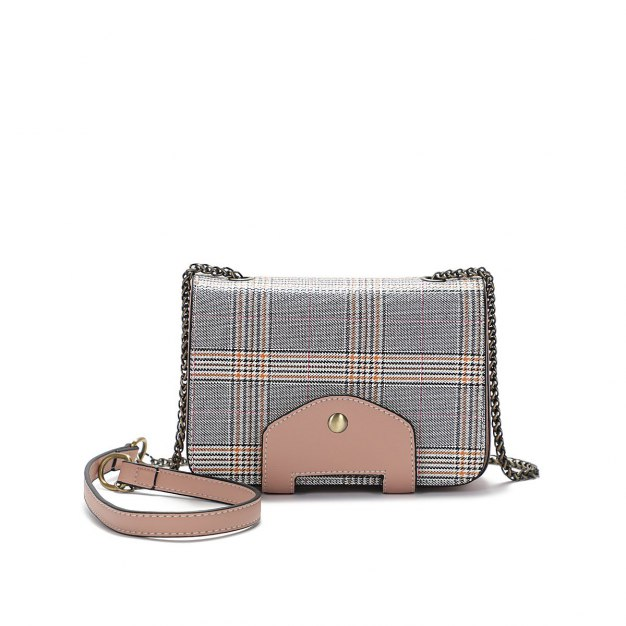 Houndstooth Pvc Envelope Bag Small Women's Crossbody Bag