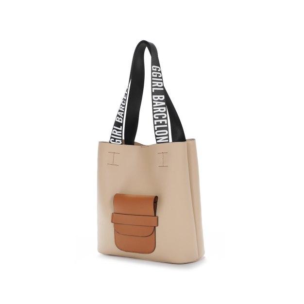 Camel Pvc 2 Pieces Bag Big Women's Shoulder Bag
