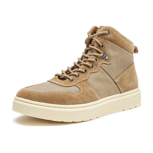 Apricot High Top Round Head Men's Outdoor Causal Shoes